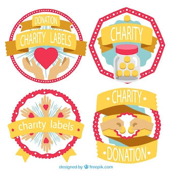 Cute labels for charity
