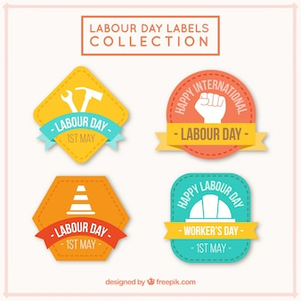 Cute labor day labels