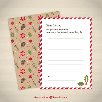 Cute letter template to Santa