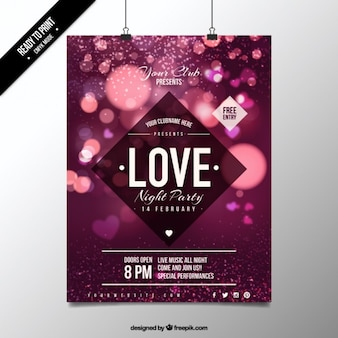 Cute lights valentine poster