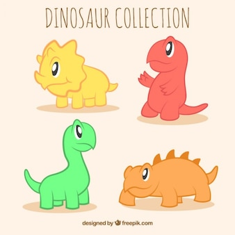 Cute little dinosaurs in colors