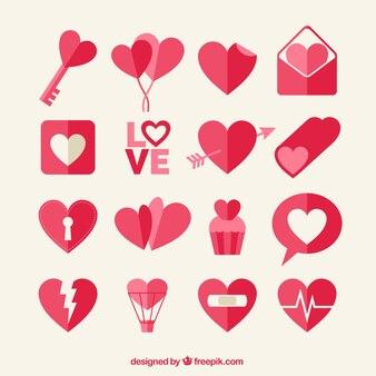 Cute love icons