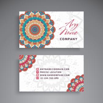 Cute mandala visiting card template