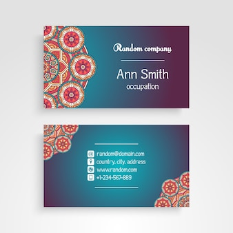 Cute mandala visiting card