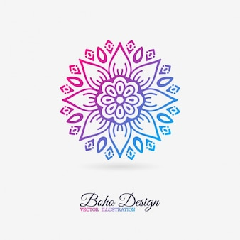 Cute mandala with floral elements