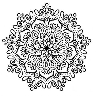 Cute mandala, without color