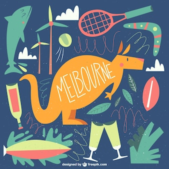 Cute Melbourne illustration