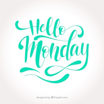 Cute monday lettering