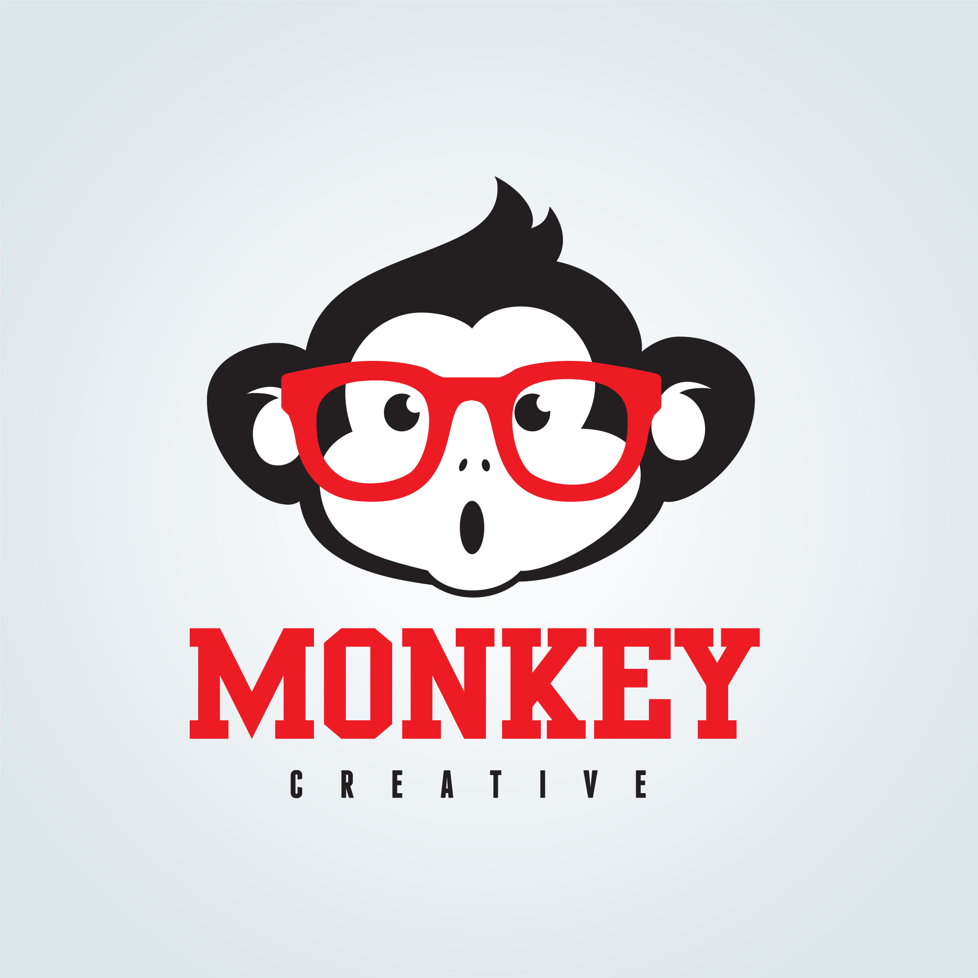 Cute monkey with glasses