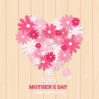 Cute mother's day background with pink flowers