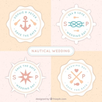Cute nautic badges for wedding