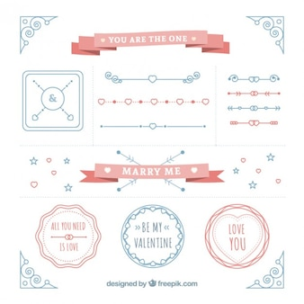 Cute ornaments pack for wedding