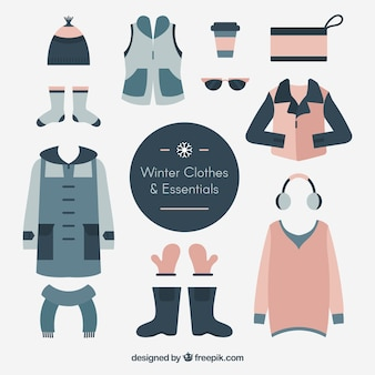 Cute pack of basic winter clothes