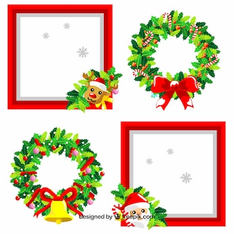 Cute pack of christmas frames