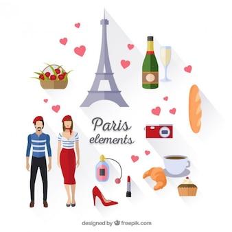 Cute Paris elements