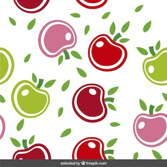 Cute pattern with apples