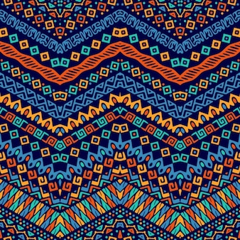 Cute pattern with ethnic ornaments