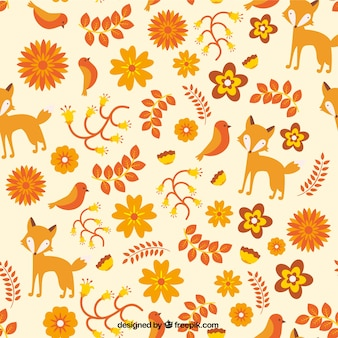 Cute pattern with orange nature