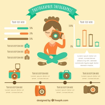 Cute photographer infographic
