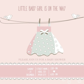 Cute pink background for baby shower