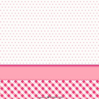 Cute pink background with dots