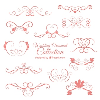 Cute pink wedding ornament collection