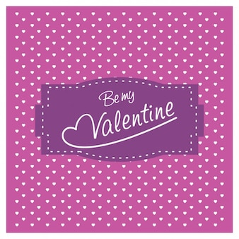 Cute purple valentine background with little hearts