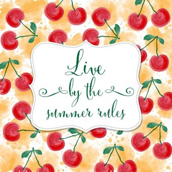 Cute quote on a cherries background