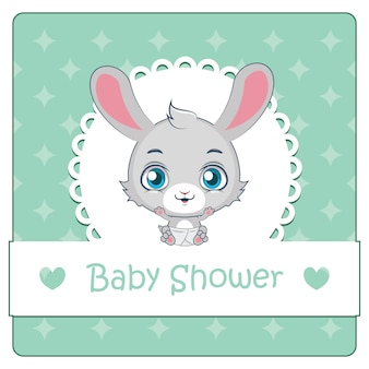 Cute rabbit baby shower