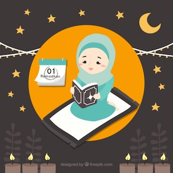 Cute ramadan background