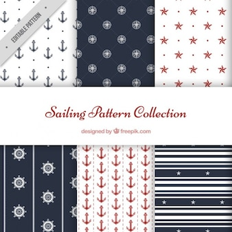 Cute sailing pattern collection