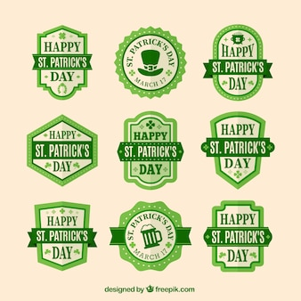 Cute Saint Patrick's day sticker collection