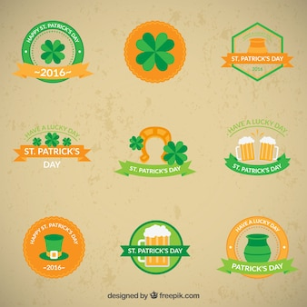 Cute Saint Patrick's day stickers