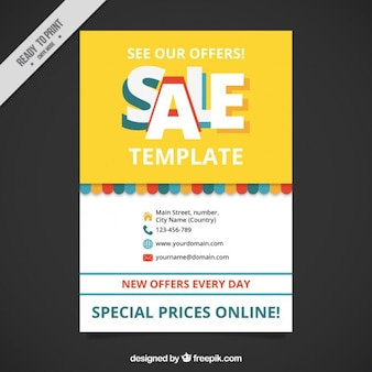 Cute sale brochure template