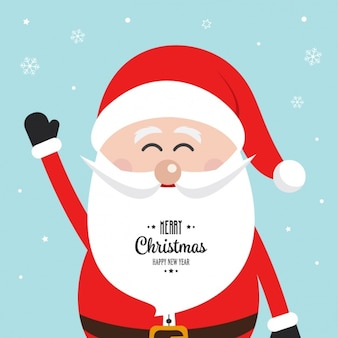 Cute santa claus background