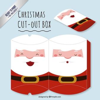 Cute santa claus cut out box