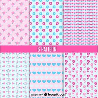 Cute seamless patterns vector set