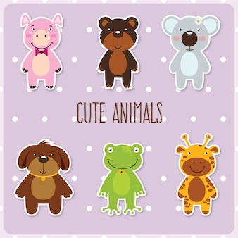 Cute set of animals