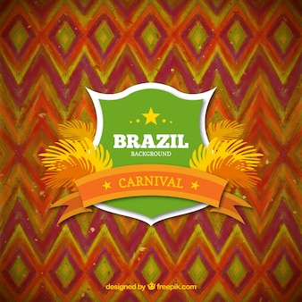 Cute shied Brazil carnival background