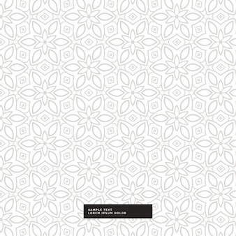 Cute silver floral pattern on a white background