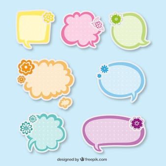 Cute speech bubbles stickers