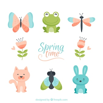 Cute spring characters