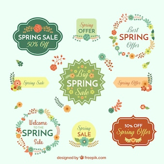 Cute spring sale badges