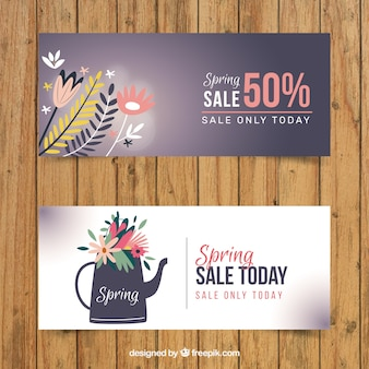 Cute spring sale banners