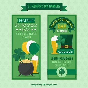 Cute ST. Patrick's day banners