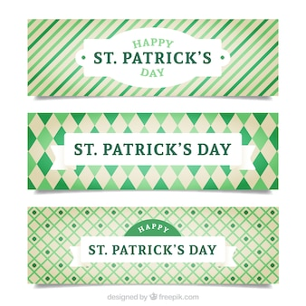 Cute ST Patrick's day banners pack