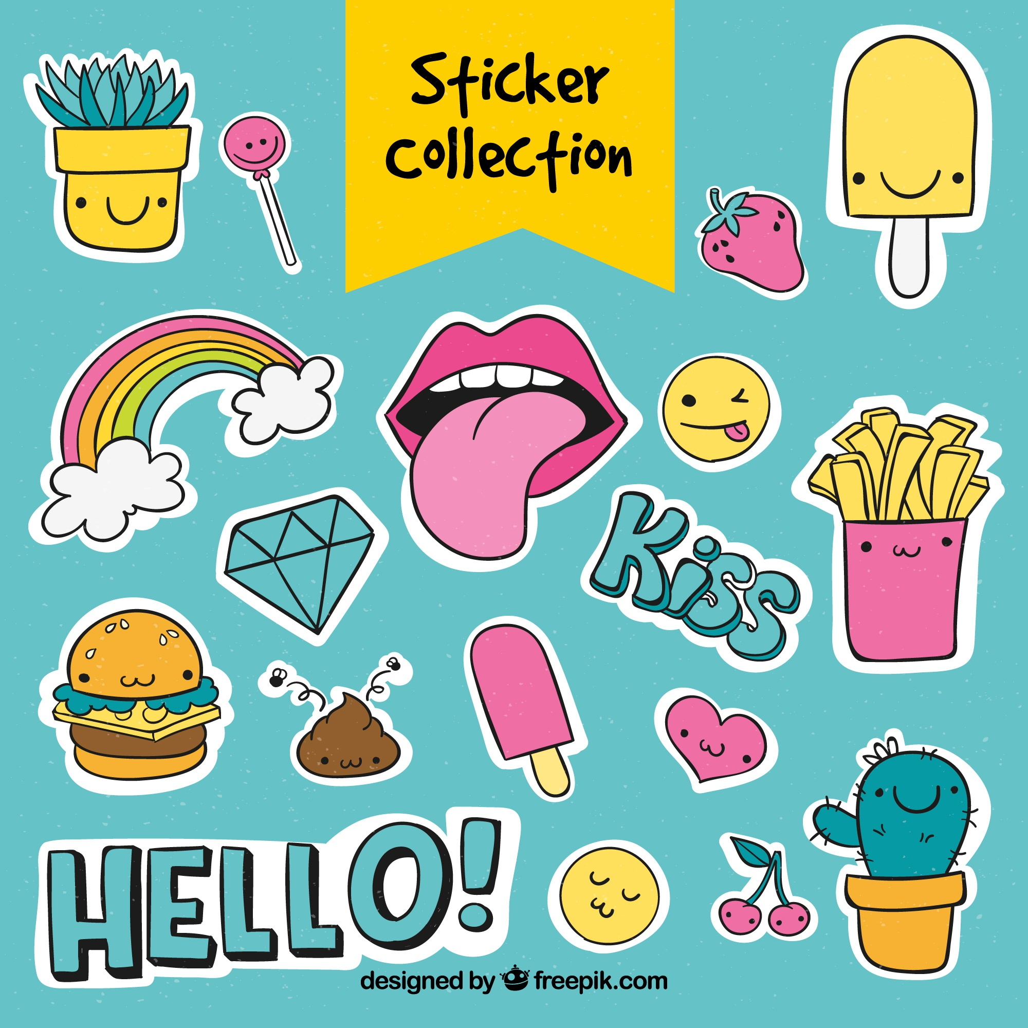 Cute sticker collection