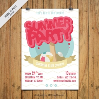 Cute summer party poster
