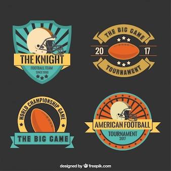 Cute Super Bowl badges pack