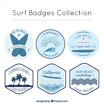 Cute surf label collection